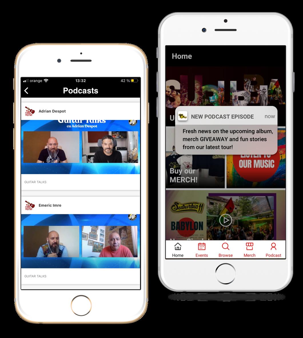 Eventya helps {Podcasters & Content Creators} build mobile apps & website